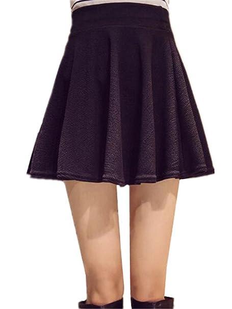 d4d384da360fa BESTHOO Mini Röcke Damen Lässige Normallacks Rock Große Größen ...