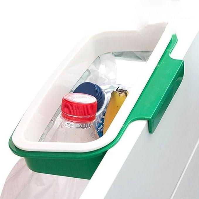 Soporte Bolsa Basura Reciclaje Sustituto Cubo Cocina Colgar Armario Bolsas Pl/ástico Almacenamiento