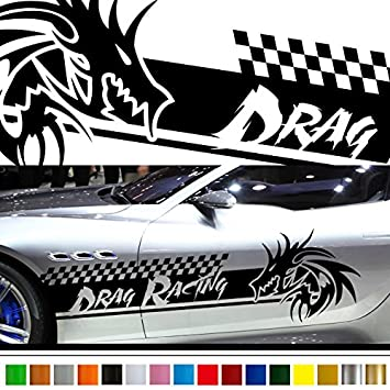 Amazon com dragon car sticker car vinyl side graphics 185 car vinylgraphic custom stickers decals 【8 colors to choose from】 japan quality fast and