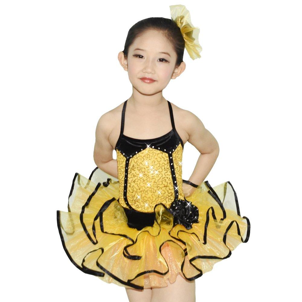 Jaune Midee Ballet Tutu Danse Costume 2 pièces 3 couleurs Robe pour petite fille IC