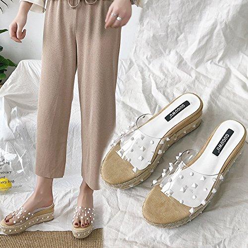 de cool albaricoque et avec Pantoufles transparent orteils des garras des color San4zcW7