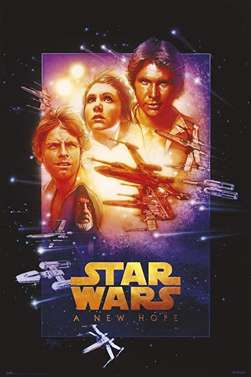 Amazon Com Star Wars Episode Iv A New Hope Movie Poster Special Edition Regular Style Size 24 X 36 Inches Black Poster Hanger Posters Prints