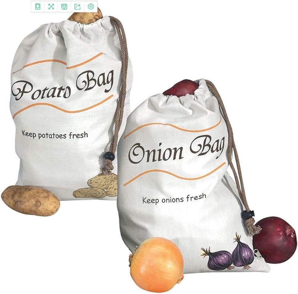 Imperius Set of 2 Potato Bag and Onion Bag Reusable Vegetable Storage Bag