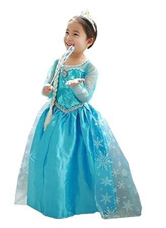 ELSA & ANNA® Princesa Disfraz Traje Parte Las Niñas Vestido (Girls Princess Fancy Dress) ES-Dress-SEP (3-4 Años, ES-SEP306)