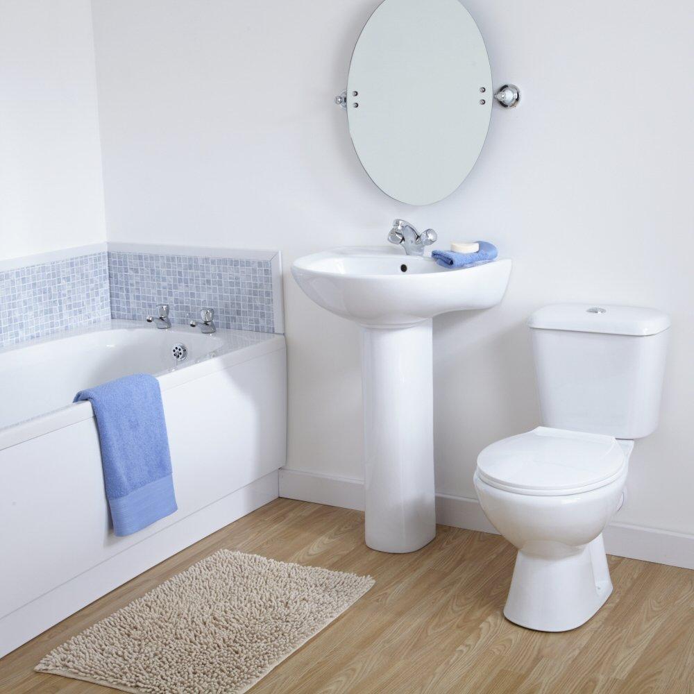 Ferdinand Bathroom Suite Modern 1700x700 Bath Pottery Toilet Basin Pedestal