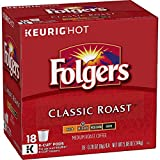 #3: Folgers Classic Roast, Medium Roast Coffee, K-Cup Pods for Keurig K-Cup Brewers, 18-Count (Pack of 4)