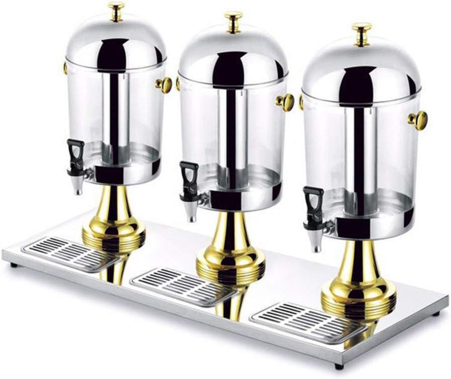 Feixunfan Dispensador de Bebidas Inoxidable De Cóctel De Acero Pesado De Beber Bebidas De Café Frías Máquina Expendedora De Tres Tazón Cubo Cubo De Leche Jugo Ding (Color : Oro, tamaño : 86x35x60cm)