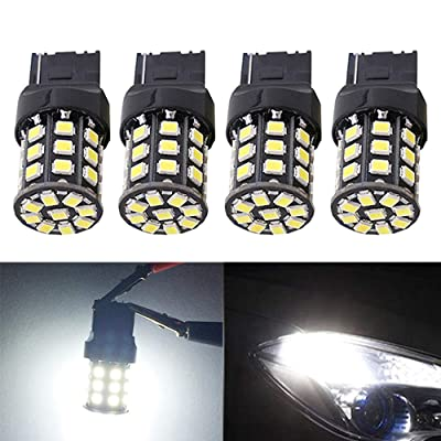 BlyilyB 4-Pack Non-polarity 7440 T20 992 7441 W21W LED Bulbs 9-30V White Super Bright 850 Lumens Replacement For Backup Reverse Lights, Tail Brake Lights, Turn Signal Lights: Automotive