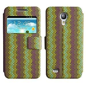 Be-Star Diseño Impreso Colorido Slim Casa Carcasa Funda Case PU Cuero - Stand Function para Samsung Galaxy S4 mini / i9190 / i9192 ( Small Circles )