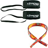 Compass Surf Swimming Fin Savers (Pair) - Padded Neoprene and Adjustable Ankle Strap with Durable Tether. Fits All Sizes.