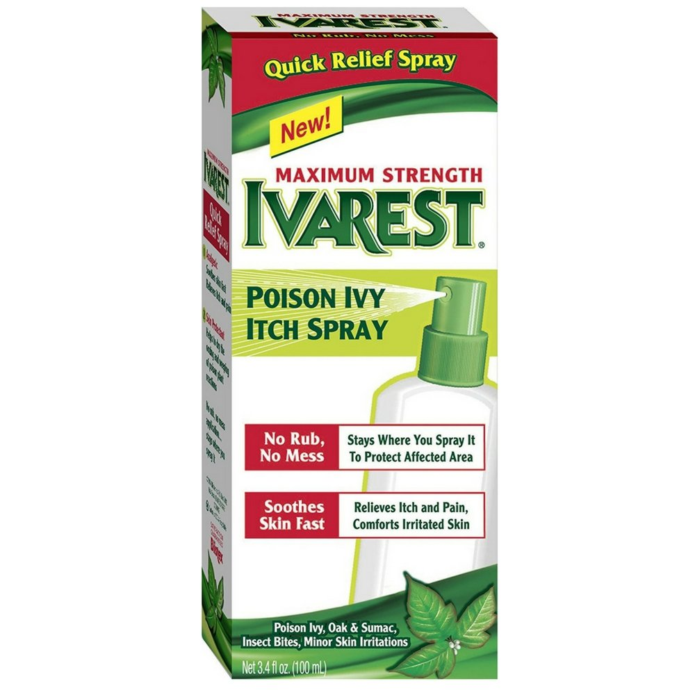 Ivarest Maximum Stregth Poison Ivy Itch Spray, 3.4 Fl Oz (Pack of 2)