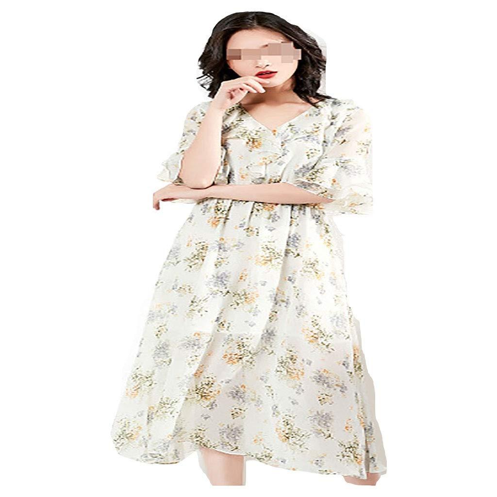 女性のVネックビーチドレスをドレスアップ (Size : L) Large  B07SMZWYVZ