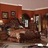 Eastern King Bed Furniture ACME Dresden Cherry Oak Eastern King Bed