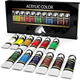 Acrylic Paint Set - 12 x 21ml Art Paints - Artists' Quality - MyArtscape