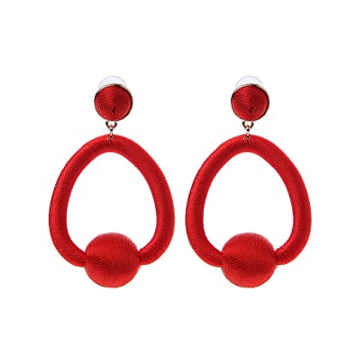 5ae44b0fe Amazon Com Forhe 1 Pair Elegant Hoop Statement Earring Women Thread.  Jewelry For Red Prom ...