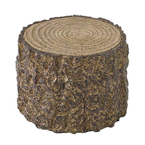 Time Concept Decorative Resin Stump Display - Small - Tree Log Design, Home & Garden Decor, Multipurpose Rack