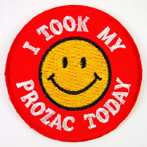 smiley-happy-smile-face-i-took-my-prozac-today-jacket-embroidered-iron-on-patches-with-free-gift