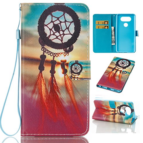 Price comparison product image LG V20 Cell Phone Case,Premium PU Leather Wallet Case with Strap Kickstand Card Slot Holder Magnetic Closure Folio Flip Slim Cover Skin Shell Shockproof Scratch-Resistant Phone Cover for LG V20-Orange
