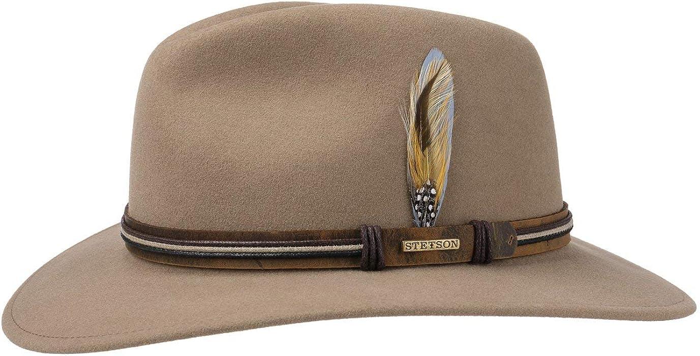 5e3b5cc54e6 Stetson Luke Traveller VitaFelt Hat Wool Felt (S (54-55 cm) - Beige ...