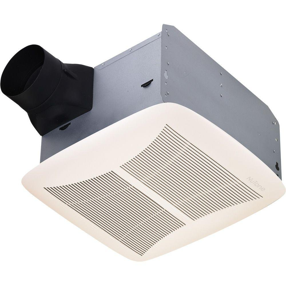 Broan NuTone QTRN110 CFM 1.5 Sone Ceiling Mounted HVI Certified Bath Fan  From The U, White     Amazon.com