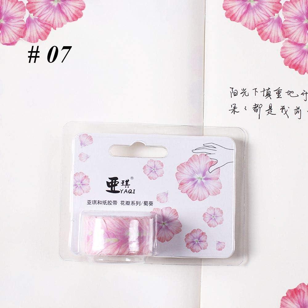 Fragrance Sakura Washi Tape Japanese Stickers Scrapbooking DIY Paper Tape 200 Peices Flower Petals Washi Tape Decorative Masking Tape