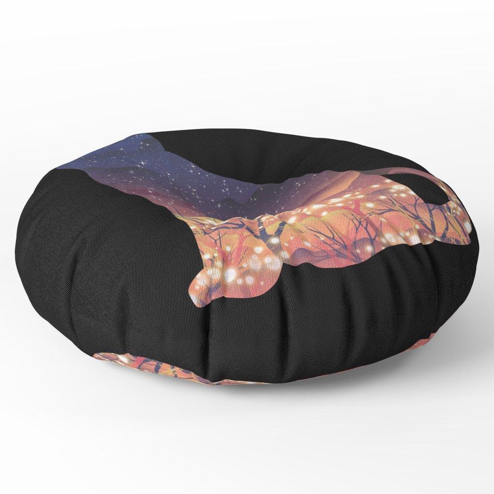 Society6 Space Cat Floor Pillow Round 30'' x 30''