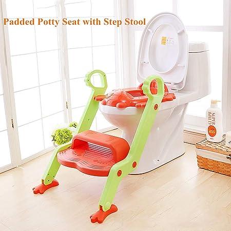 WXCymhy Escalera de baño for niños Asiento de bebé Escalera Asiento de Inodoro Asiento de Inodoro Plegable Hombres y Mujeres Orina de bebé Orinal Producto para bebé (Color : Orange): Amazon.es: Hogar