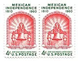 USA 1960 Postage Stamp Pair 4 Cents Mexican Independence Joint Issue Mexico-USA Scott #1157