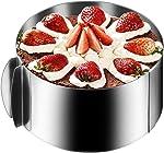 Gutsdoor Cake Mold Ring Adjustable Mousse Cake Molds Stainless Steel 6.5-12