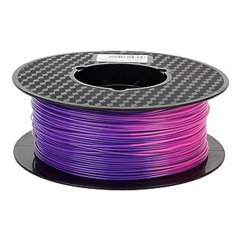 Color Changing Filament with Temperature Purple Blue to Pink PLA Filament 1.75mm Color Changing Change 3D Printer Filament 1KG Spool 2.2LBS 3D ...