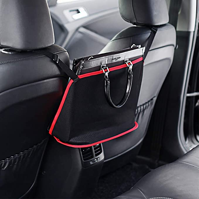 Between Seat Mesh Storage Net with Pockets Trucks and SUVs Center Console Pet Cargo Netting for Vehicles Front Seat Dog Barrier for Cars DFDM National Car Net Organizer XL 16x18 Sized