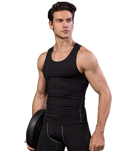 Saoye Fashion Mens Fast Drying Tank Tops Sleeveless Gym Shirts Mens