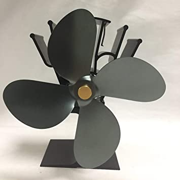Ventilador de Estufa accionado por Calor de 4 Cuchillas Hogar Ventilador de Estufa accionado por Calor