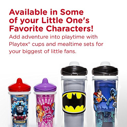 Playtex Sipsters Stage 3 Milk and Water Spill-Proof, Leak-Proof, Break-Proof Insulated Toddler Straw Sippy Cup Set, 9 Ounce - 2 Count by Playtex (Image #4)