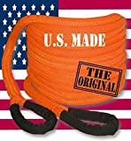 BILLET4X4 (Jeep RECOVERY) U.S. made Safety Orange Safe-T-Line Kinetic RECOVERY ROPE (Snatch Rope) - 1 inch X 30 ft