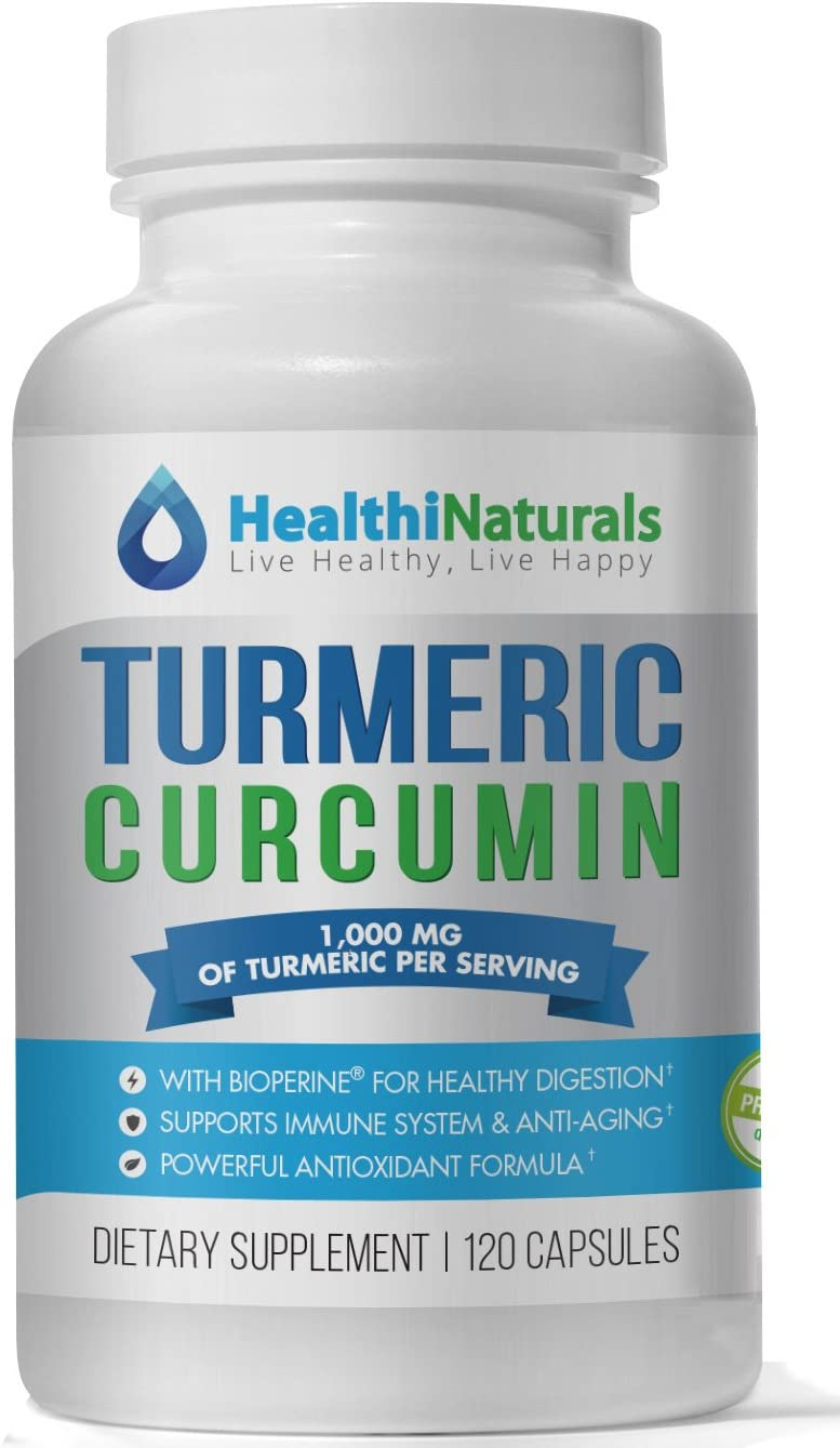Turmeric Curcumin BioPerine Pills, Natural Sourced Anti Inflammatory Supplement, Supports Joint Pain Relief – 120 Capsules. Tumeric Supplements with 365-Day Money Back Guarantee FREE COOKBOOK 120