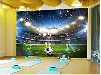 Tiezhi 3d Wallpaper Fresques Stickers Muraux Wall Papier Peint Stade