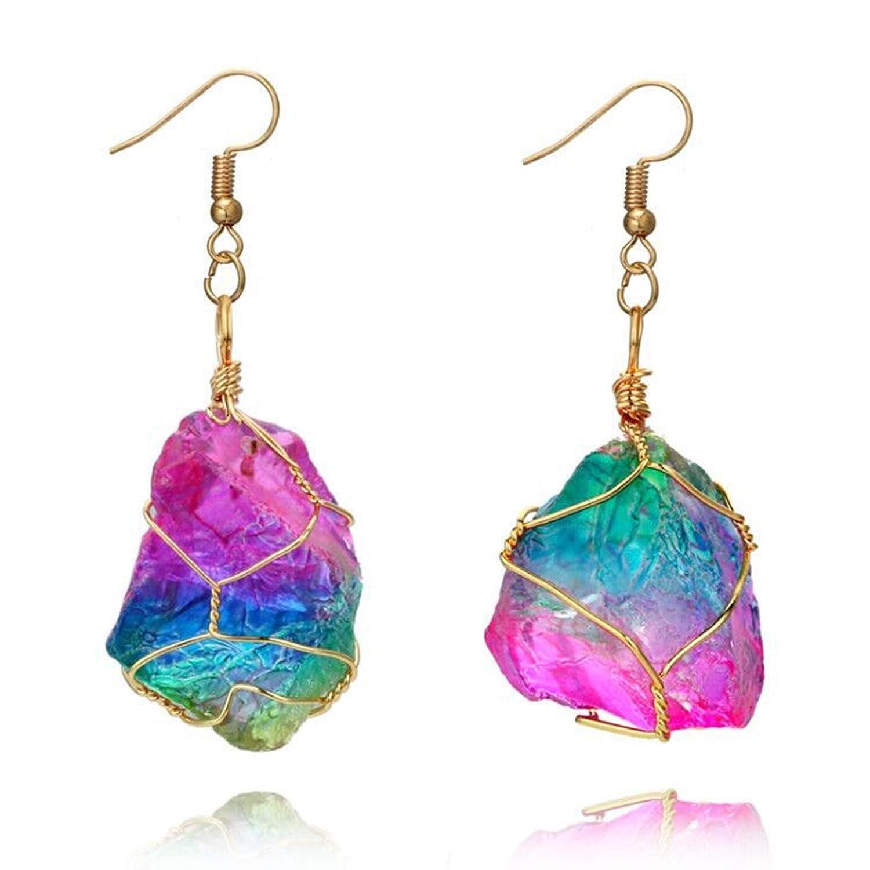 Gnzoe Female Jewelry-Alloy Earring for Women Girl Irregular shape Drop Earrings Colorful