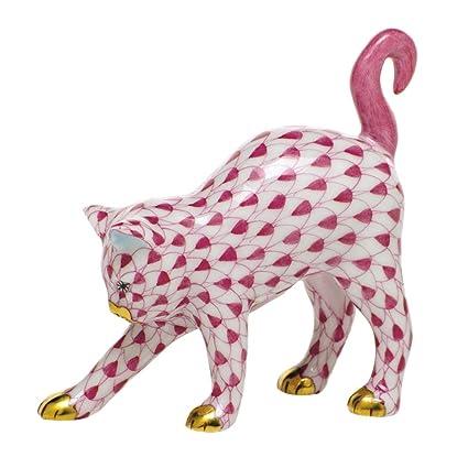 Amazon.com: Herend Figurita de gato arqueado gatito ...