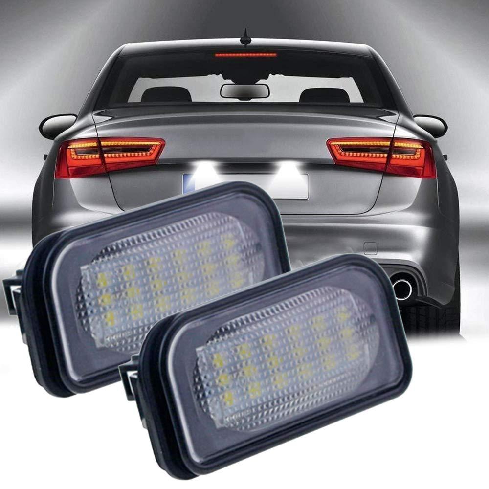W219 W211 R171 Leslaur 2 Piezas LED l/ámpara de matr/ícula Apta para Mercedes Benz W203 5D