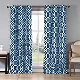 Best Eclipse Home Fashion Thermal Insulated Blackout Curtains Royal Blues - Duck River Geometric Heavy Triple Layered Blackout Window Review
