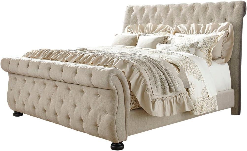 Ashley Furniture Signature Design - Willenburg Master Bedroom Set - Casual California King Upholstered Bedset - Dark Brown