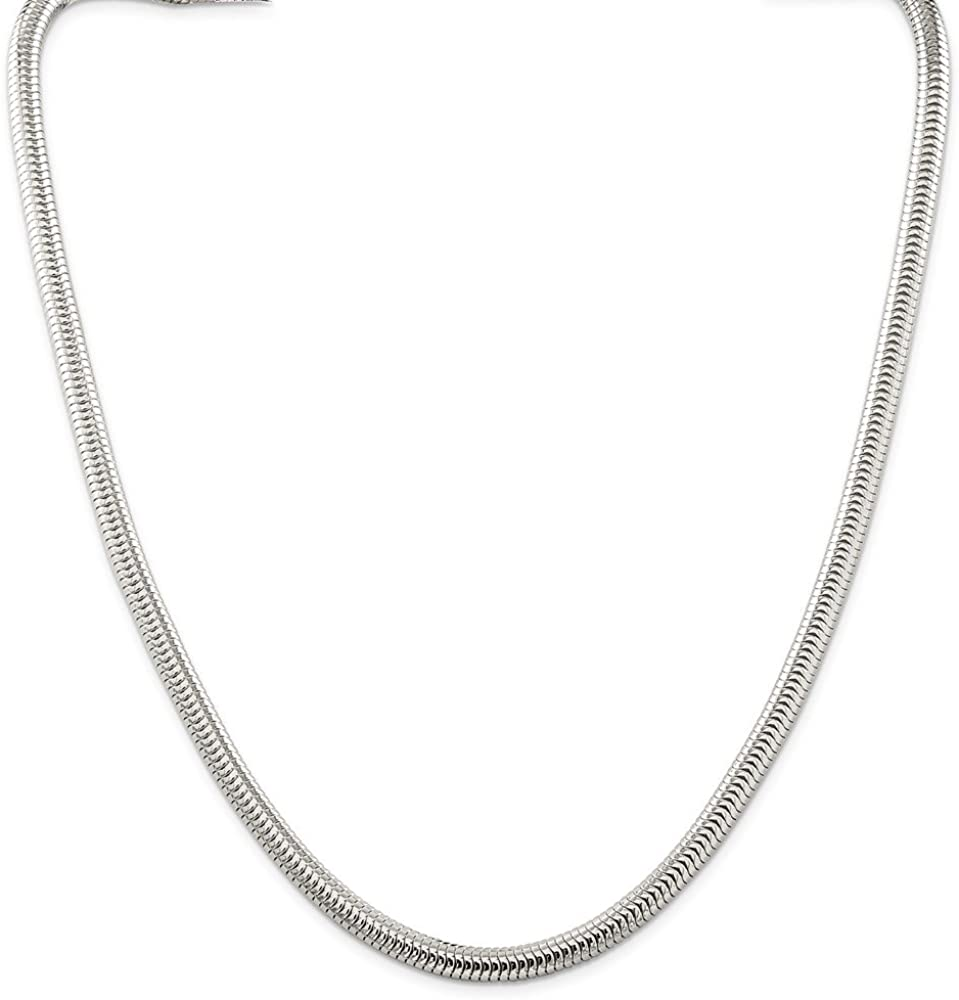 Solid 925 Sterling Silver .8mm Square Snake Chain Necklace