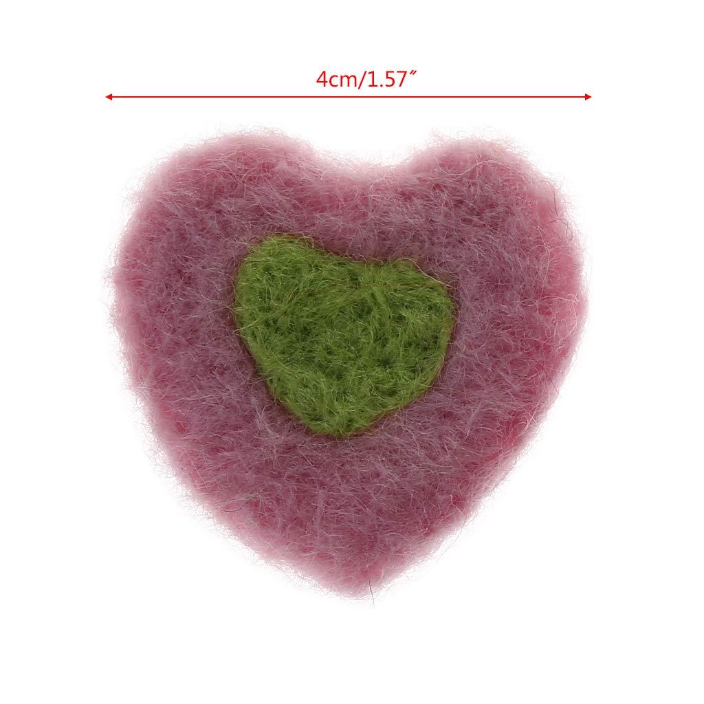 Photography Props Felt Ball Handmade Multi-functional Baby Heart Shape Woolen Diy Decoration Real Life Plush