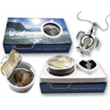 """Pearlina Cultured Pearl in Oyster Necklace Kit Turtle Rhodium Plated Cage Pendant W/ Stainless Steel Chain 18"""""""
