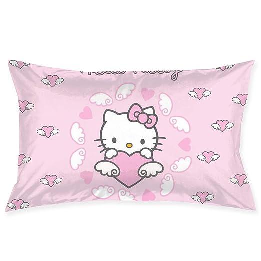 CHLING Fundas de Almohada con alas voladoras de Hello Kitty ...