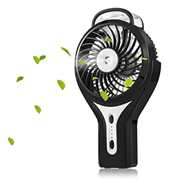 Superior Welltop Mini Handheld USB Misting Fan With Personal Cooling Mist Humidifier  Rechargeable Portable Mini Misting Cooling