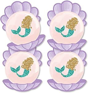 Let's Be Mermaids - Seashell Decorations DIY Baby Shower or Birthday Party Essentials - Set of 20