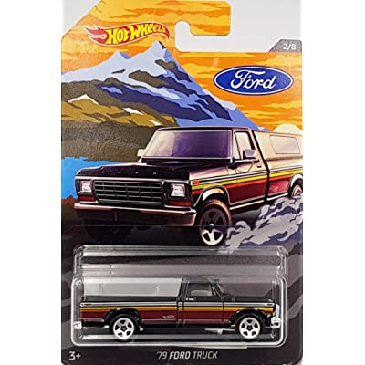 Hot Wheels Ford Series, Black '79 Ford Truck 2/8: Toys & Games