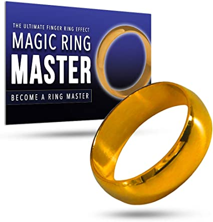 Magic Ring Magician Props Make Ring Go Through Finger Steet Stage Magic Tick